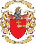 Teskey Family Crest from Germany