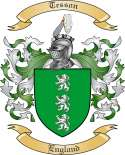 Tesson Family Coat of Arms from England