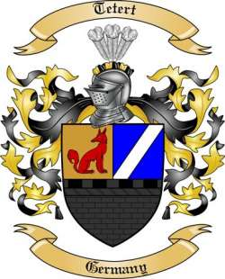 Tetert Family Crest from Germany