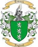 Tewson Family Coat of Arms from England
