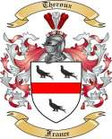 Theroux Family Coat of Arms from France