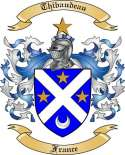 Thibaudeau Family Coat of Arms from France