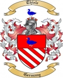 Thiele Family Crest from Germany