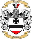 Thoele Family Crest from Germany