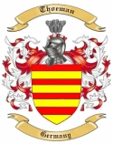 Thoeman Family Crest from Germany1
