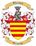 Thoman Family Crest from Germany1