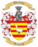 Thoman Family Crest from Germany
