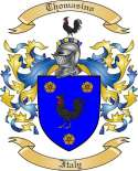 Thomasino Family Crest from Italy