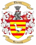 Thome Family Crest from Germany