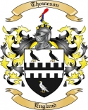Thomeson Family Crest from England