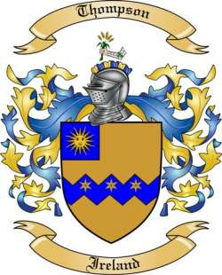 Thompson Family Coat of Arms from Ireland