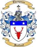 Thompson Family Coat of Arms from Scotland