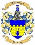 Thoorman Family Crest from Germany