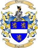 Thorpe Family Coat of Arms from England