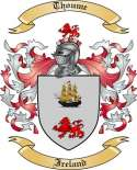 Thoume Family Crest from Ireland