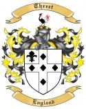 Threet Family Crest from England