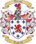 Thropp Family Coat of Arms from England