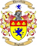 Thursfield Family Crest from England