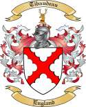 Tibaudeau Family Crest from England