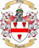 Tiddy Family Crest from England