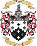 Tigue Family Coat of Arms from Ireland