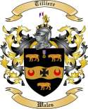 Tilliere Family Coat of Arms from Wales