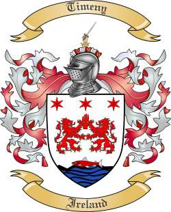 Timeny Family Coat of Arms from Ireland