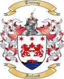 Timeny Family Crest from Ireland