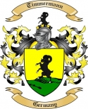 Timmermann Family Crest from Germany