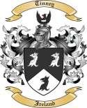 Tinney Family Coat of Arms from Ireland