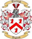 Tinsleigh Family Coat of Arms from England