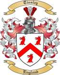 Tinsley Family Coat of Arms from England