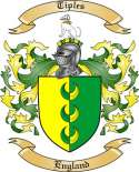Tiples Family Coat of Arms from England