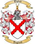 Tiptod Family Crest from England