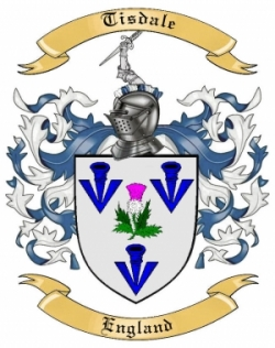 tisdale family crest from england by the tree maker