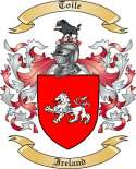 Toile Family Crest from Ireland