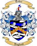 Toker Family Crest from England2