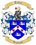 Toker Family Crest from England