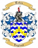 Toker Family Crest from Enlgand2