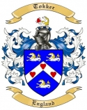 Tokker Family Crest from England