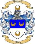 Tolomei Family Crest from Italy