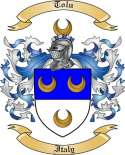 Tolu Family Coat of Arms from Italy