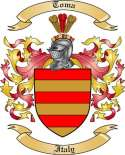 Toma Family Coat of Arms from Italy2