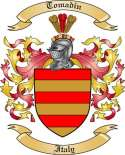 Tomadin Family Crest from Italy2