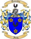 Tomadin Family Crest from Italy