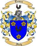 Tomas Family Coat of Arms from Italy