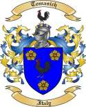 Tomasich Family Crest from Italy