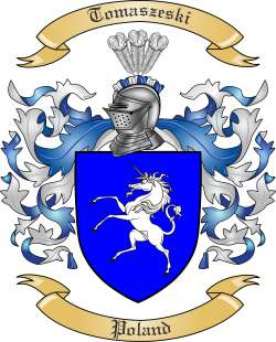 Tomaszeski Family Crest from Poland