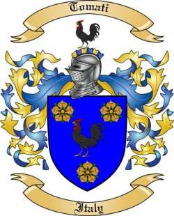 Tomati Family Crest from Italy