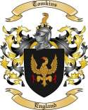 Tomkins Family Coat of Arms from England